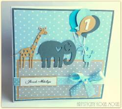 Roczek - żyrafa i słonik