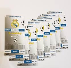 Zaproszenie piłkarskie - bilet