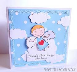 Aniołek z serduszkiem dla chłopczyka