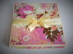Pudełko z kartką dla Faustyny