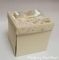 Exploding Box - Ślub w kolorach ecru