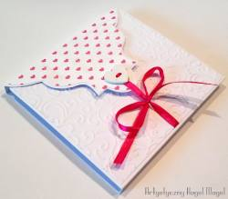 Kartka w kopercie- Serca