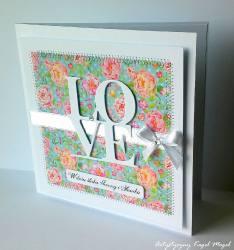 LOVE -kartka ślubna