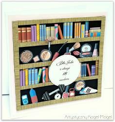 Kartka z książkami