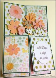 Pudełko w kartce-Urodzinowy ogród
