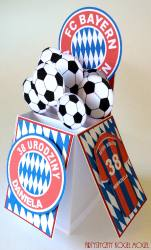 Pudełko w kartce dla fana piłki nożnej