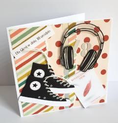 Trampki i słuchawki na 18 urodziny