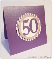 Zaproszenie na 50 urodziny w fiolecie